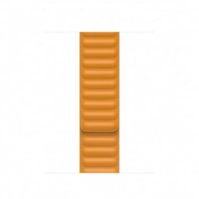 Apple Watch 40mm Band: California Poppy Leather Link - Large (Seasonal Fall 2020)