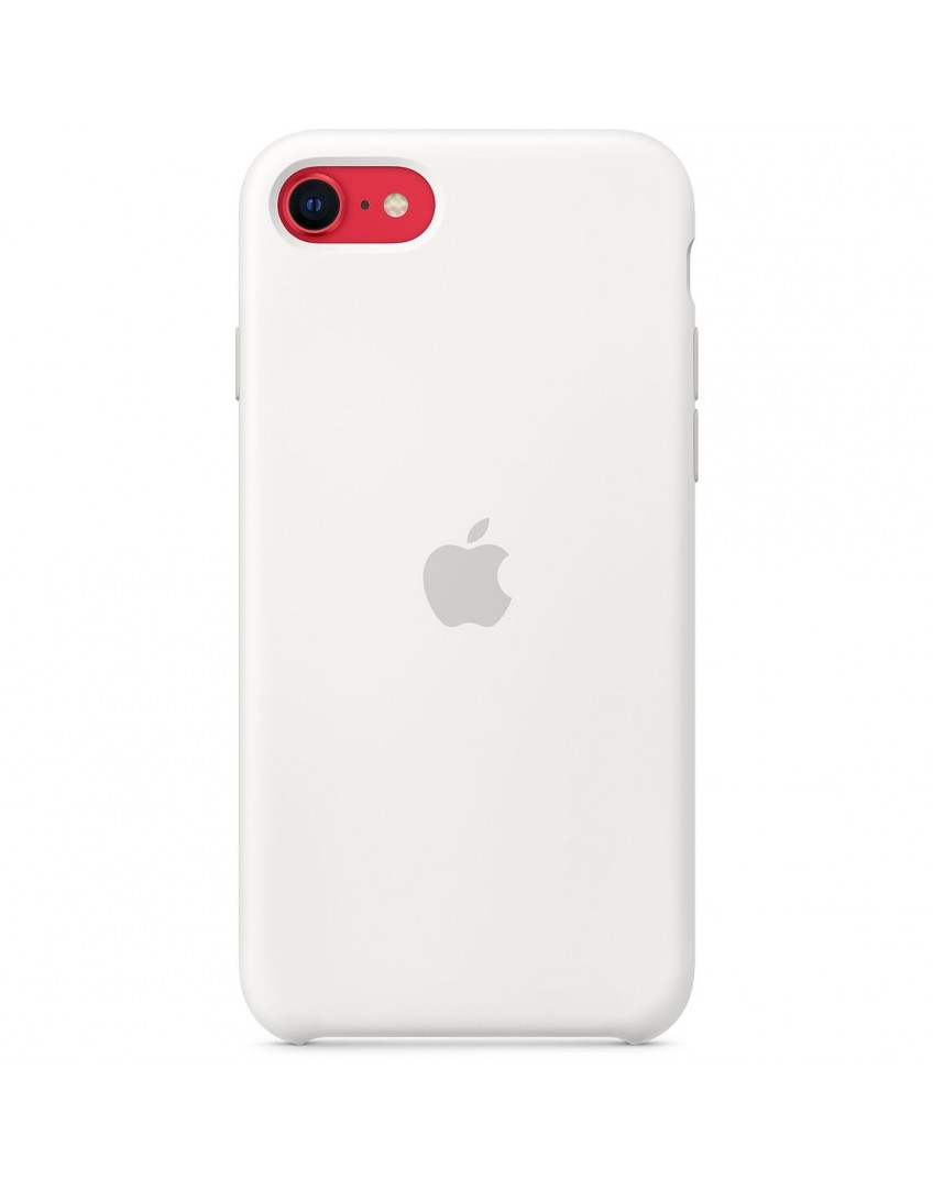 Apple iPhone SE2 Silicone Case - White