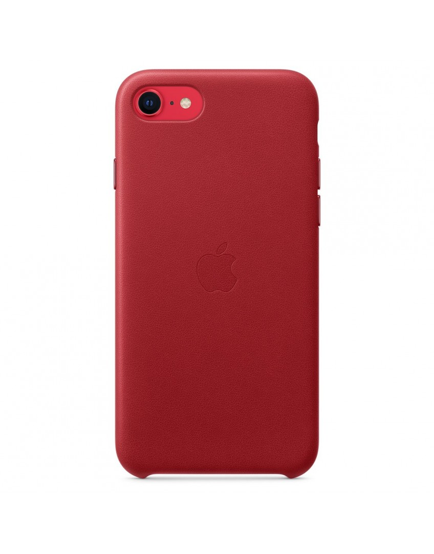 Apple iPhone SE2 Leather Case - (PRODUCT)RED